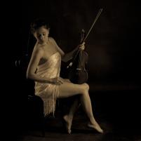"""The resting violinist"" - Model: Valentina"